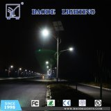 Baodeはリチウム電池が付いている屋外10m 100W LEDの太陽街灯をつける