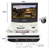 Commerce de gros de DVD portable 10 pouces écran permet à 270 degrés de rotation blanc