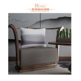 Acabado nogal madera maciza Hotel Silla Silla de ocio con la tabla