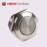 16mm Stainless Steel Anti Vandal Push Button Switch