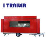 Itrailerはガラス繊維の食糧カートの移動式車ヴァンをカスタマイズした