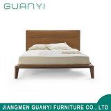 2018 деревянном основании провод фиолетового цвета кожи с одной спальней Headborad мебель двуспальная кровать