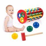 Bola de golpes de martillo de madera Escalera de rodadura de los niños juguetes educativos