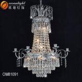 Lampadario a bracci a cristallo di lusso Om8916 del soffitto dei lampadari a bracci di illuminazione Pendant dell'acciaio inossidabile