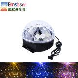 Venta caliente Rgbywp 1*6W mágico efecto de bola de cristal LED Iluminación Discoteca El Control de sonido