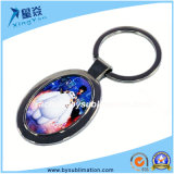 O Sublimation simples anula o Keyring oval do metal