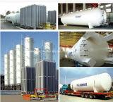 Lox/Lin/lar Réservoir de stockage cryogénique de gaz de l'industrie l'oxygène liquide/réservoir de gaz argon de l'azote/