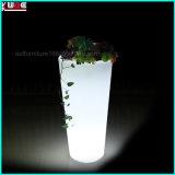 Il POT di fiore illuminato del giardino LED illumina in su le piantatrici esterne