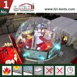 Tente de dôme géodésique transparente Toile de PVC transparente Habillage portable