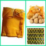 PET Raschel Ineinander greifen-Beutel für Verpackungs-Zwiebelen-Kartoffel-Orange