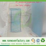 Tela não tecida do Polypropylene hidrófilo para o tecido do bebê