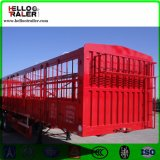 3半半車軸貨物自動車ボックストレーラー50tの貨物トラックのトレーラー
