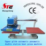 Glide上部のAutomatic Double Station Heat Press Machine 40*40cm Pneumatic T-Shirt Heat Transfer Machine Double Station T Shirt Printing Machine StcQd05