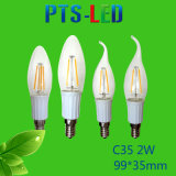 Bulbo del filamento de C35 2W 4W 6W 210-500lm Dimmable LED