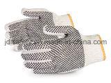 Перчатка шнура с ладонью и задней частью поставленными точки PVC (S5600)
