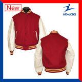 La insignia de encargo de Healong se divierte las chaquetas del béisbol de los hombres de la sublimación del engranaje de la ropa