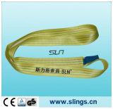 7:1 фактора безопасности слинга Webbing полиэфира 3tx1m желтое