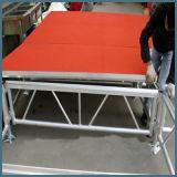 [رك] ألومنيوم مرحلة تجهيز مع أحمر لوح لأنّ حادث أداء