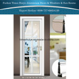 Diseño agradable bisagra de aluminio cuartos de baño y la puerta de la cocina con un precio más barato