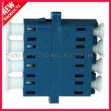 Переходника оптического волокна квада LC UPC однорежимный пластичный