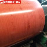 Bobina de acero galvanizada prepintada de madera PPGI de Shandong
