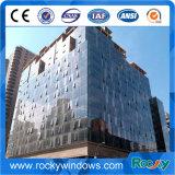 Système transformé en unités de mur rideau, mur rideau rideau en aluminium de bâti d'acier inoxydable de système de mur, en acier et