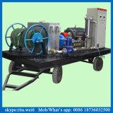 industrielles Reinigungs-Geräten-Hochdruckwasser-startende Pumpe des Gefäß-100MPa