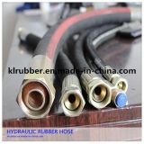 Tuyau SAE100 hydraulique en caoutchouc à haute pression