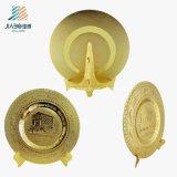 Jiabo Zubehör-preiswerte kundenspezifische kupferne Korrosions-Firmenzeichen-Goldmetallandenken-Platte