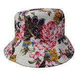 Chapéu da cubeta com tela floral (BT024)