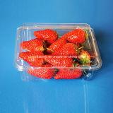 Bandeja de empaquetado de empaquetado de la fruta del envase de la fresa plástica del animal doméstico 500 gramos