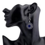 方法女性のためのボヘミアの古代宝石類のヒマワリの形の合金のイヤリング