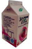 Saft-dreieckiger Karton der Erdbeere-450ml mit Aluminiumfolie