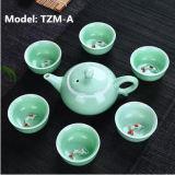 La tazza di ceramica della teiera degli insiemi promozionali del regalo dei regali dell'insieme di tè della porcellana imposta l'insieme di tè di ceramica