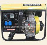 5kw/5kVA/5000watt 10HP Luft abgekühlter Motor-beweglicher Dieselgenerator