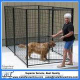 1.8m große geschweißte Draht-Panel-im Freienhundehochleistungshundehütte