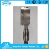 Medidor de pressão cheio de aço inoxidável de 100 mm com tubo de condensador de radiador