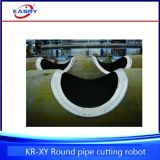Línea redonda inoxidable máquina que ranura que bisela de /Intersection del tubo del tubo de acero de la perforación del orificio del corte de llama del plasma del CNC