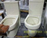 Tocador de cerámica de la correa del color de la marfil/del hueso del jet de una sola pieza del sifón en el cuarto de baño para las mercancías sanitarias con el certificado de Ce/Saso