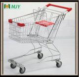 Verzinkte Supermarkt-Einkaufswagen-Laufkatze Mjy-80A2