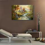 100% Hechos a mano Aceite de lienzo paisaje Painting-Classical
