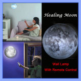 Twilight Relaxing Healing Moon Light Indoor Novel LED Wall Lamp mit Remote Control