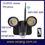 최신 판매 WiFi 5.0m 움직임 720p 비데오 카메라 무선 PIR 가벼운 센서 디지탈 카메라