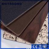 Couleur Bois panneau composite en aluminium pour la construction de façade