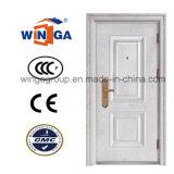 De Witte Deur van uitstekende kwaliteit van het Staal van de Veiligheid van het Metaal van de Kleur Decoratieve (w-s-04)
