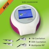 Machine multipolaire H-2013A de cavitation de la mini utilisation à la maison portative rf 40k de salon