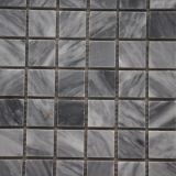Precio barato gris de mármol Shaped del azulejo de mosaico de Carrara del cuadrado hermoso del estilo