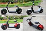 強力な高速リチウム電池が付いているHarley Citycoco 1000Wの電気スクーター
