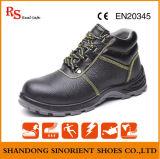 Schoenen van de Bedrijfsveiligheid van de Teen van het Staal van het Leer van de koe de Gespleten voor Bouwvakkers
