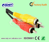 RCA Cable Audio Transmission Male del CCTV a Male Audio Extension Cable
